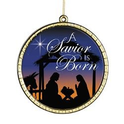 A Savior is Born Round Ornament - 18/pk