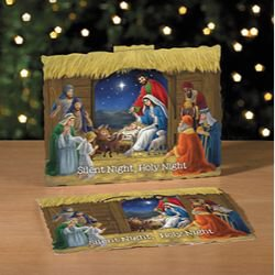 Silent Night, Holy Night 3-D Stand Up Nativity - 50/pk
