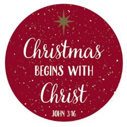 Christmas Begins with Christ Magnet - 36/pk