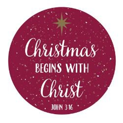 Christmas Begins with Christ Auto Magnet - 24/pk