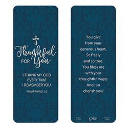 Thankful for You Jumbo Bookmark - 36/pk