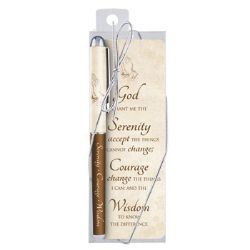 Serenity Prayer Gift Pen with Bookmark - 12/pk