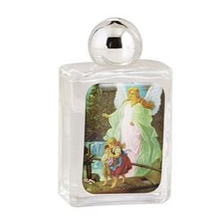 Guardian Angel Glass Holy Water Bottle - 12/pk