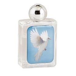 Holy Spirit Glass Holy Water Bottle - 12/pk