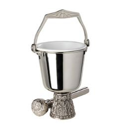 Sudbury Brass™ Last Supper Holy Water Pot with Sprinkler
