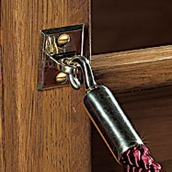 Pew Reservation Ropes Pack of 2 Permanent Brass Hooks Brackets 4 Foot Cambridge Gold