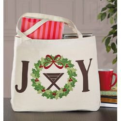 Joy Christmas Canvas Tote Bag - 6/pk
