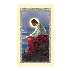 Christ Overlooking Jerusalem Laminated Holy Card - 25/pk