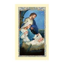 Nativity Laminated Holy Card - 25/pk