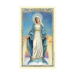 Our Lady of Grace Laminated Holy Card - 25/pk