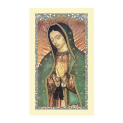 Our Lady of Guadalupe Laminated Holy Card - 25/pk