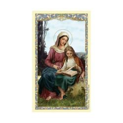 St. Anne Laminated Holy Card - 25/pk