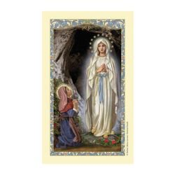 St. Bernadette Laminated Holy Card - 25/pk