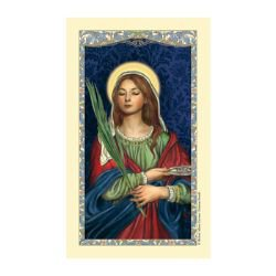 St. Lucy Laminated Holy Card - 25/pk