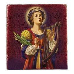 Marco Sevelli Tile Plaque - St. Cecilia