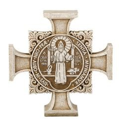 Avalon Gallery™ St. Benedict Cross Stepping Stone