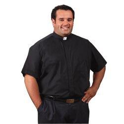 Roomey Toomey Big & Tall Tab Collar Shirt: Short Sleeve