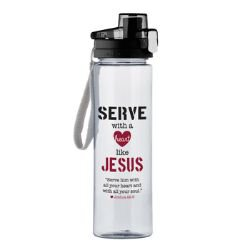 Serve with a Heart Like Jesus Water Bottle - 4/pk