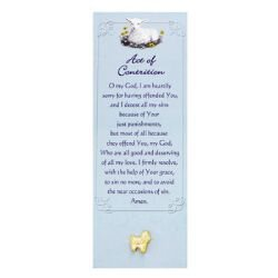 Lamb Lapel Pin with Act of Contrition Bookmark - 12/pk