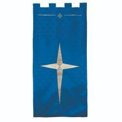 Maltese Jacquard Banner - Blue