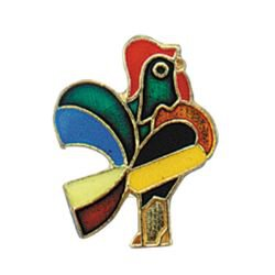 De Colores Rooster Lapel Pin - 25/pk