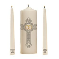 God Bless Our Union Wedding Unity Candle Set - 2 sets/pk