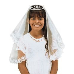 Tiara First Communion Veil
