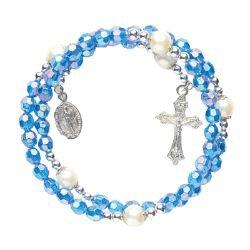 Sapphire Wrap Style Rosary Bracelets - 12/pk