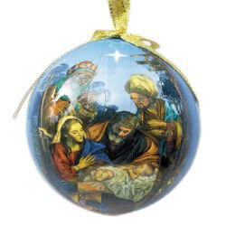For We Have Seen His Star Decoupage Ornament - 6/pk
