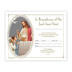 Heavenly Feast First Communion Certificate - 100/pk