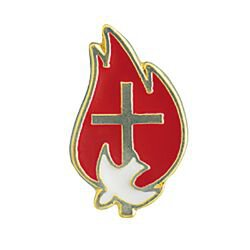 Red Flame Confirmation Lapel Pin - 25/pk