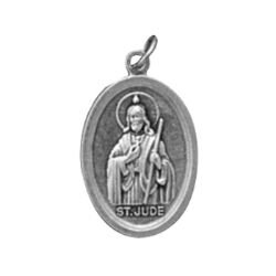 St. Jude/Pray For Us Oxidized Medal - 50/pk