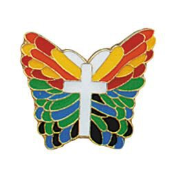 De Colores Butterfly Lapel Pin - 25/pk