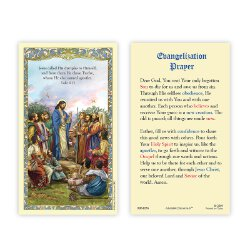 Christ with Apostles Laminated Holy Card - 25/pk
