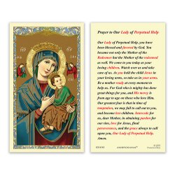 Our Lady of Perpetual Help Laminated Holy Card - 25/pk