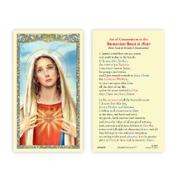 Immaculate Heart of Mary Laminated Holy Card - 25/pk
