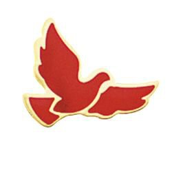 Red Dove Lapel Pin - 25/pk