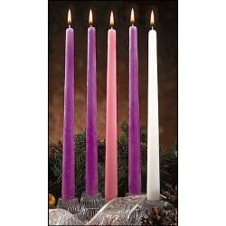 Deluxe Advent Taper Candle Set - Purple/Rose/White - 6/pk