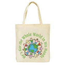 He's Got the Whole World Tote Bag - 12/pk