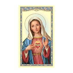 Immaculate Heart of Mary Holy Card - 100/pk