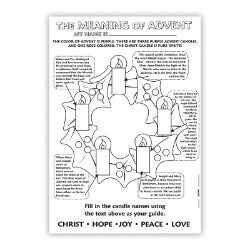 Color Your Own Poster - The Meaning of Advent - 50/pk