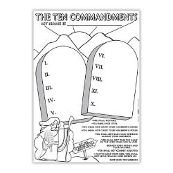 Color Your Own Poster - The Ten Commandments - 50/pk