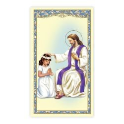 Reconciliation - Girl Laminated Holy Card - 25/pk