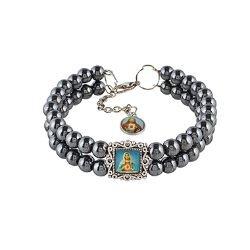 Hematite Sacred Hearts Bracelet - 12/pk