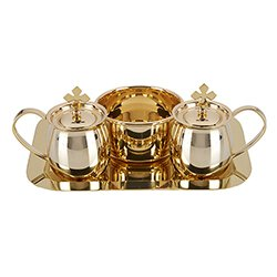 Cruet Set with Tray and bowl brass