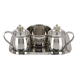Cruet Set with Tray and bowl stainless steel