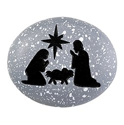 Nativity Pocket Stone - 18/pk