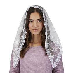 Traditional Chapel Veil - White - 2/pk