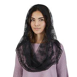 Infinity Chapel Veil - Black - 2/pk