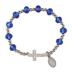 Cross Rosary Bracelet Assortment  - 12/pk